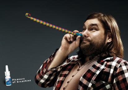 Реклама средства против насморка