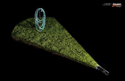 Реклама фонарика energizer