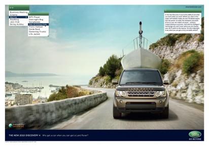 Креативная Реклама автомобиля DISCOVERY