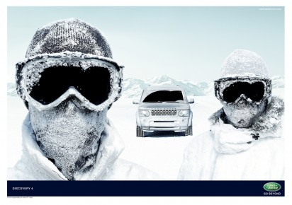 Реклама автомобиля LAND ROVER