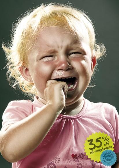 Дети плачут в рекламе