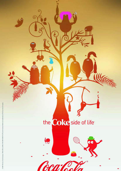 Красивая реклама Колы