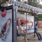 Креативная #reklama №428 — Coca-Сola на Московских остановках