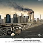 Креативная #reklama №380 — Мир объединился против терроризма, лучше бы он обратил внимание на СПИД, голод и бедность