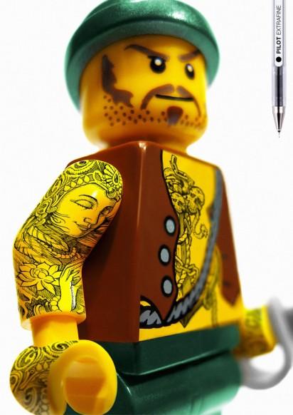 Татуаровка ручкой