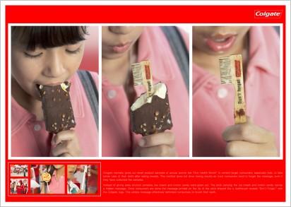 Реклама Colgate в мороженом
