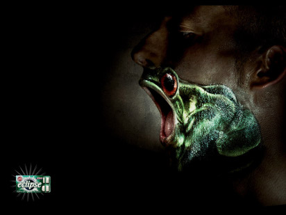 Реклама жевательной резинки Eclipse: Лягушка