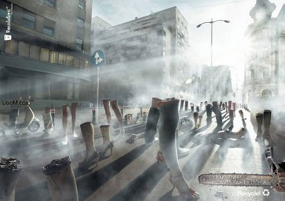 Реклама против уничтожения деревьев