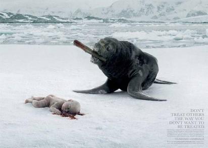Реклама против убийства животных
