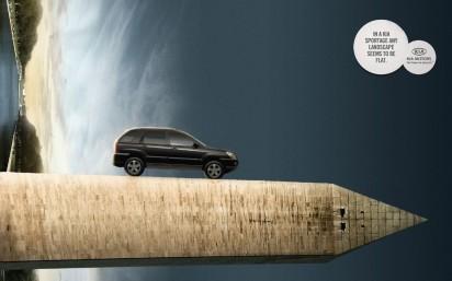 Реклама автомобиля KIA