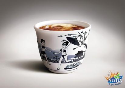 Креативная Реклама чая Nestea
