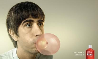 Реклама спрея для полости рта Colgate: лук