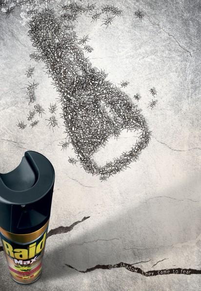 Реклама средства против насекомых