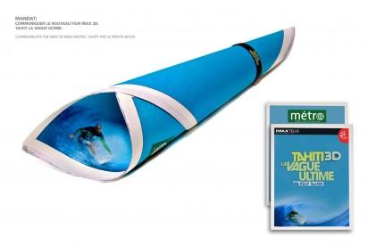 Креативная реклама на обложке журнала