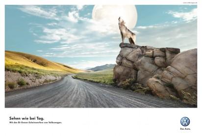 Реклама Bi-Xenon фонарей от Volkswagen: Волк