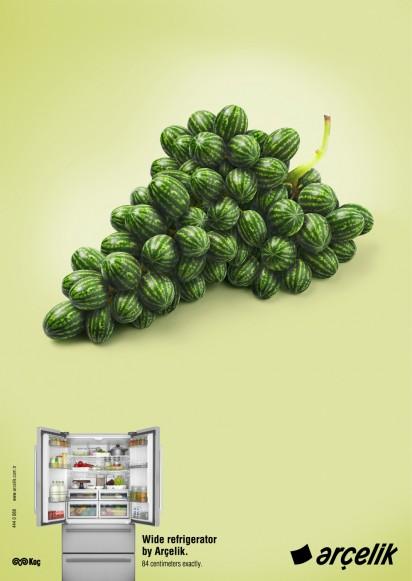 Реклама большого холодильника