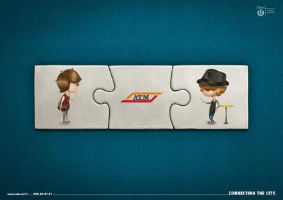 Реклама транспортной компании, которая управляет всем общественным транспортом Милана Azienda Trasporti Milanesi