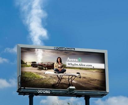 Дымящийся билборд