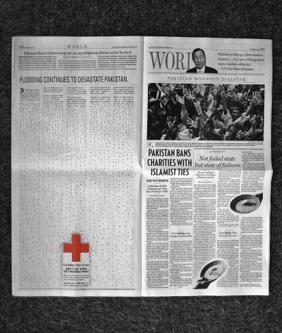 Реклама красного креста в газете