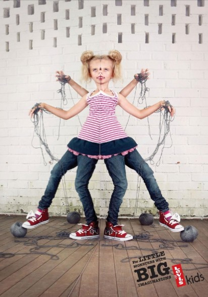 Реклама джинсов Levi's для детей
