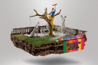 Реклама жевательного драже Mentos: Зомби