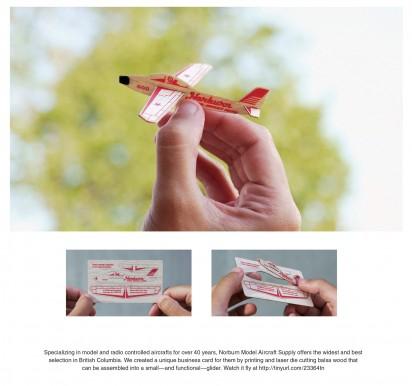 Креативные визитки клуба любителей самолётов