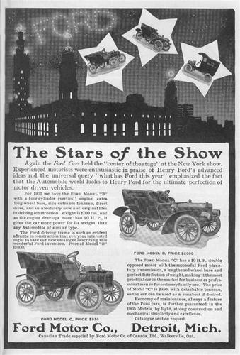 первая реклама автомобиля Ford