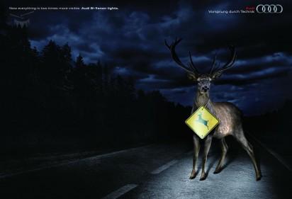 Реклама би-ксеноновых фар от Audi