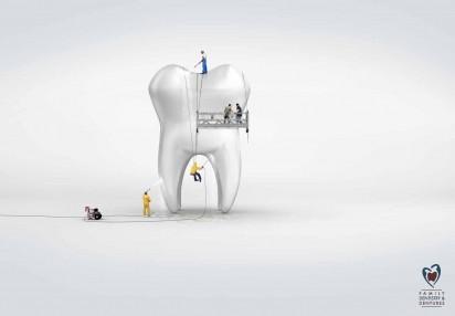 Реклама стоматологической клиники Clermont: Очистка