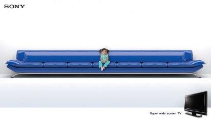 Реклама широкоформатных телевизоров