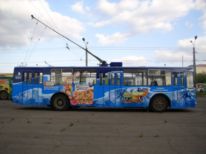 Реклама на тульских автобусах
