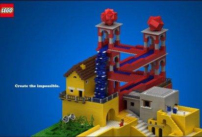 Реклама детского конструктора Lego