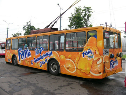Реклама на автобусах в Туле