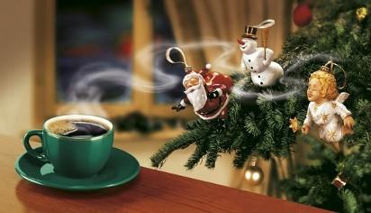 Новогодняя реклама кофе