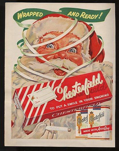 Санта рекламирует сигареты