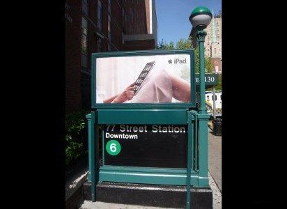 Реклама iPad в Нью-Йорке