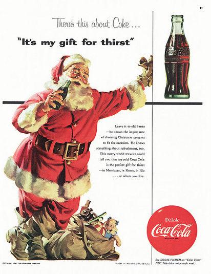 Реклама Колы 1954 года