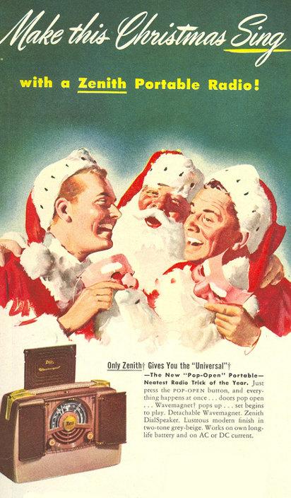 Новогодняя реклама радиоприёмника