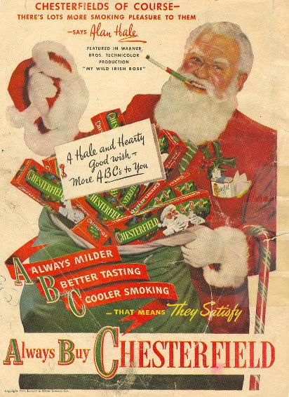 Старая новогодняя реклама сигарет