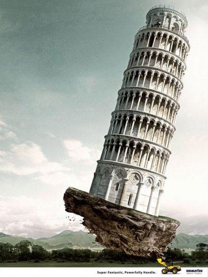 Реклама погрузчика: Пизанская башня