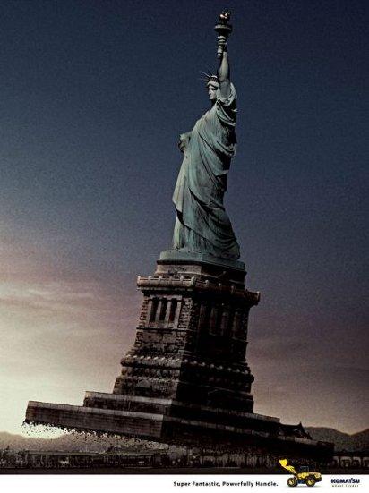 Реклама спецтехники: Статуя свободы