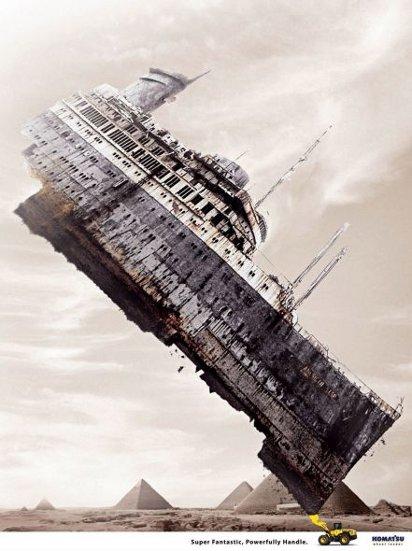 Реклама погрузчика: Титаник