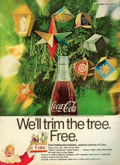Новогодняя реклама Колы в журнале