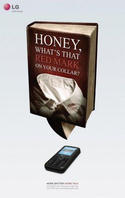 Реклама мобильного телефона с мощным акамулятором