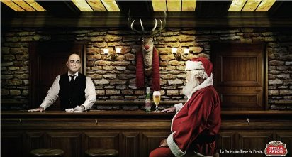 Новогодняя реклама пива