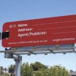 Креативная #reklama №899 — Билборд авиакомпании Virgin Atlantic