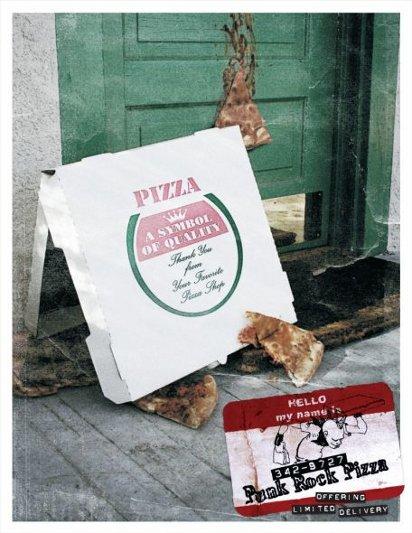 Реклама настоящей пиццы для панков