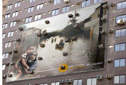 Билборд против потепления и кондиционеров