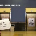 Креативная #reklama №1k12 — Пицца Domino: На что только не идут ради бесплатной пиццы