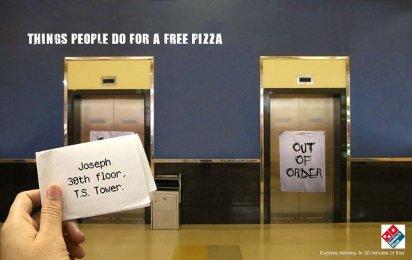 Креативная реклама пиццы